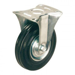 Колесо для тележки FC 160, непов, литая резина, без торм, 160мм
