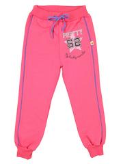 24-2015-3 брюки спортивные детские, розовые