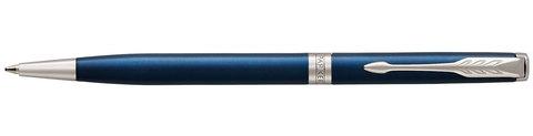 Шариковая ручка Parker Sonnet Slim Subtle Blue Lacquer CT Mblack