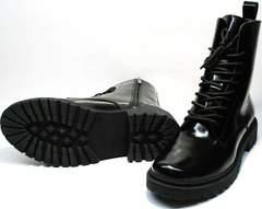 Черные ботинки женские на низком ходу Ari Andano 740 All Black.