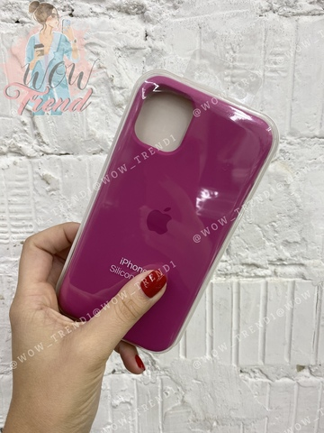 Чехол iPhone 11 Pro Silicone Case /dragon fruit/ тёмная фуксия 1:1