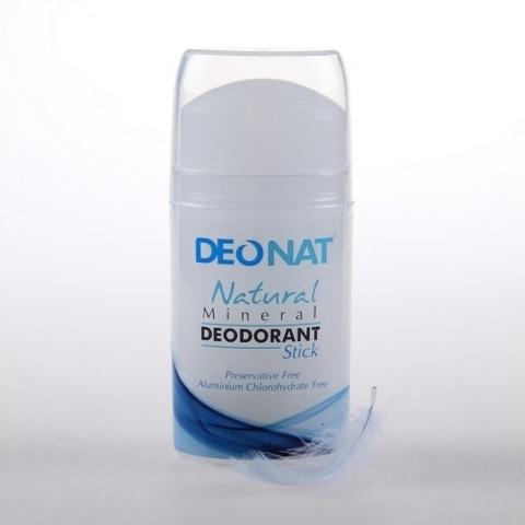 Deonat, Дезодорант Кристал чистый (голубой футляр, БЕСЦВЕТНЫЙ стик, овальный, push-up), 100гр