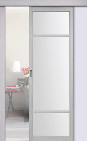 Перегородка межкомнатная Optima Porte 131.222, стекло матовое, цвет дуб серый, остекленная (за 1 кв.м)