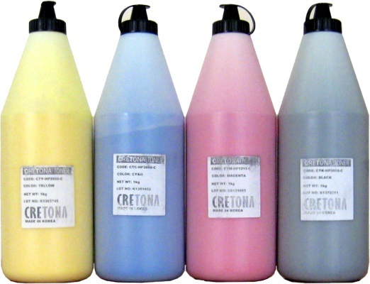 CRETONA KOREA CB542A/CE322A/CF352A (CTY-HP1215-C), желтый (yellow), упаковка 1кг