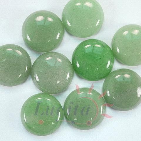 Кабошон круглый Авантюрин зеленый, 22 мм