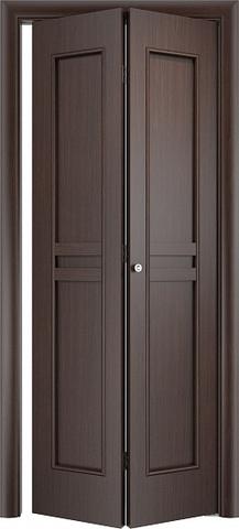 Дверь складная Верда С-23 (2 полотна), цвет венге, глухая