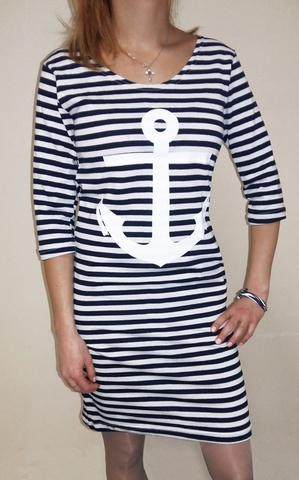 Купить платье в морском стиле - Магазин тельняшек.ру 8-800-700-93-18