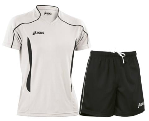 Мужская волейбольная форма Asics Volo Zone (T604Z1 0190-T605Z1 0090) белая-черная