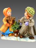Дети с елкой на санках