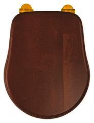 Сиденья для унитаза Migliore Bella ML.BLL-26.110.NC.DO с микролифтом, цвет: орех/золото
