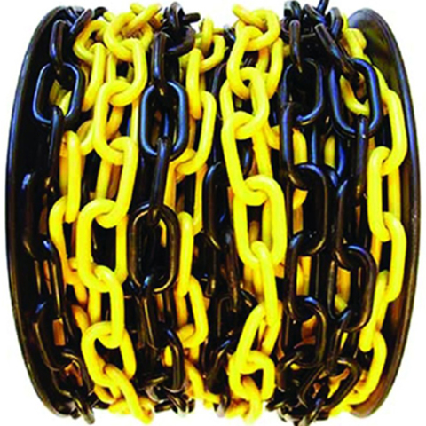 Цепь пластиковая черно-желтая, 6мм, Бухта 50м