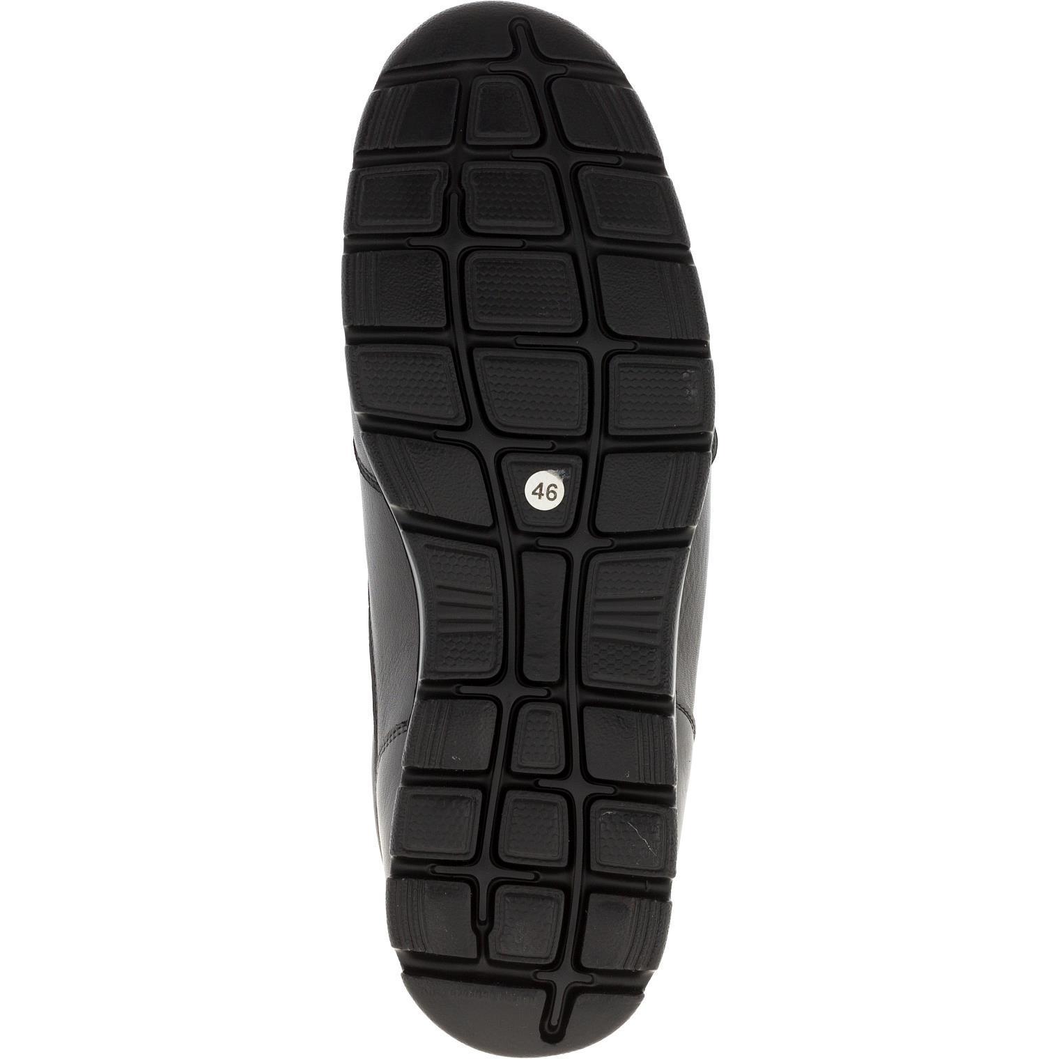 587385 полуботинки мужские черный кожа больших размеров марки Делфино