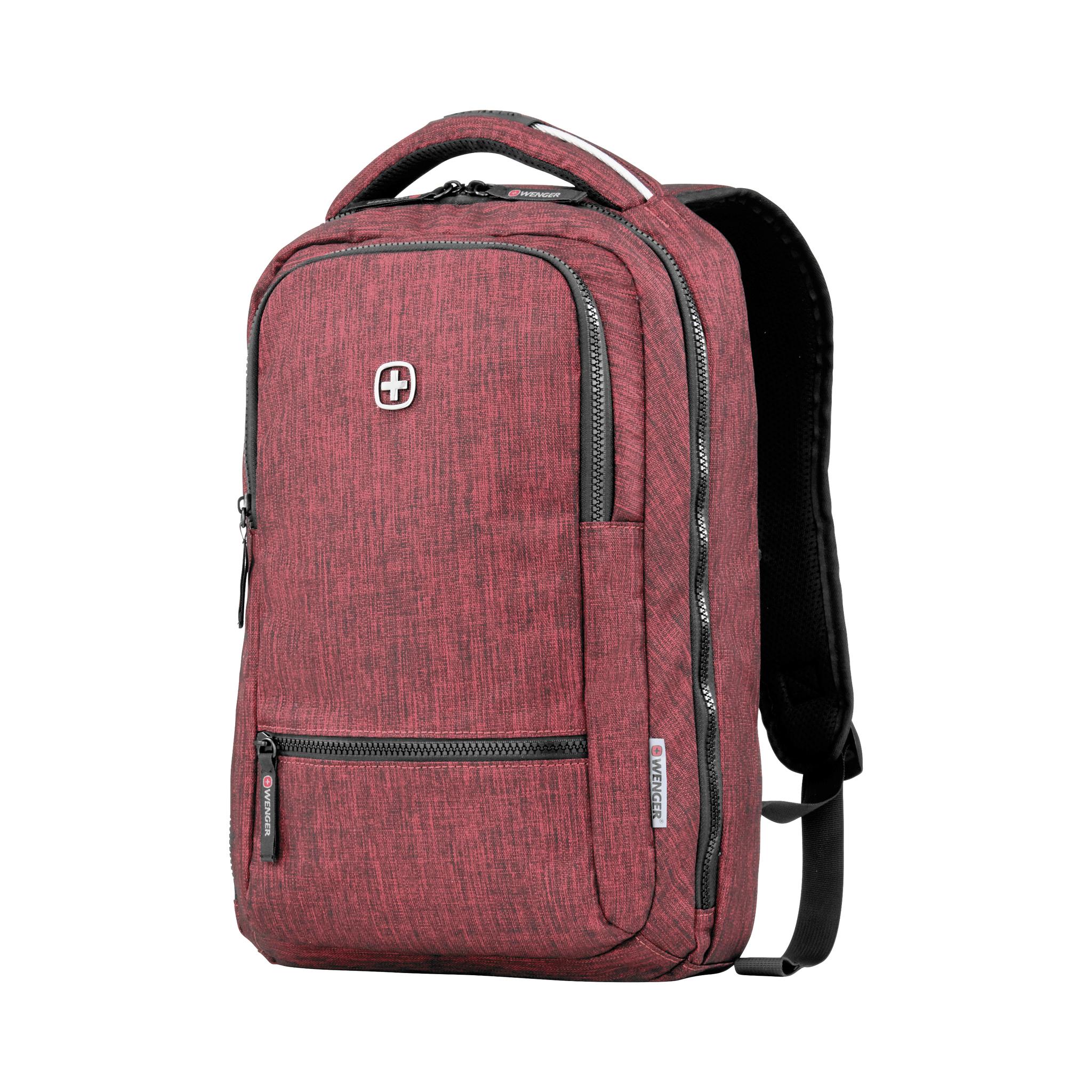Рюкзак WENGER Rotor, цвет бордовый, отделение для ноутбука 14