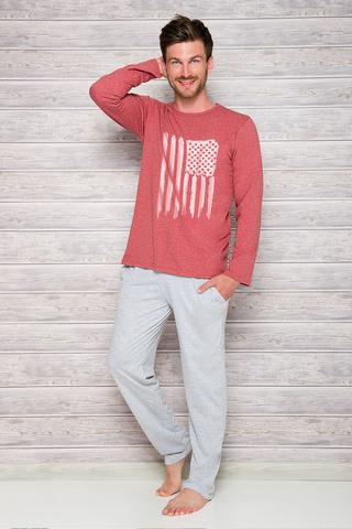 Мужская пижама 7W Karol 1006-1007 Red Taro