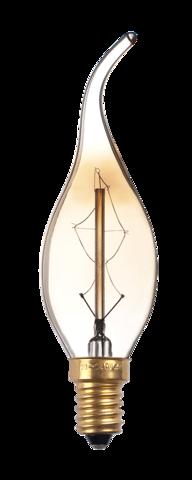 Лампа накаливания декоративная RETRO GOLD CA35 GOLD 60w E14