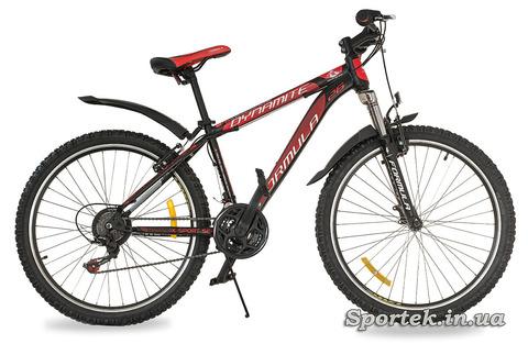 Красно-черный горный мужской велосипед Formula Dynamite 2016