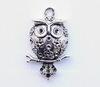 "Подвеска  ""Сова на ветке"" (цвет - античное серебро) 44х30 мм"