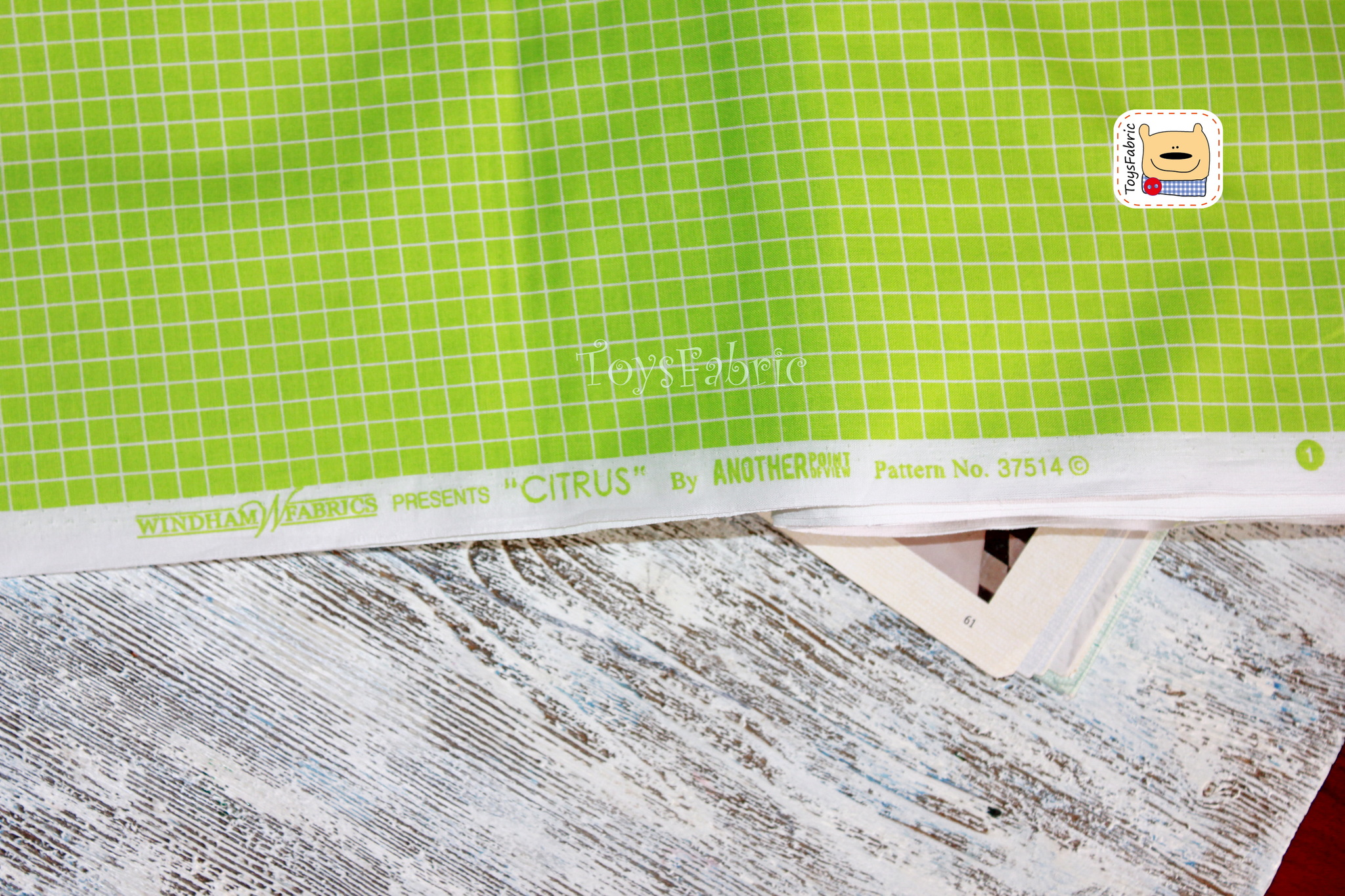 Ткань для пэчворка 20624 (салатовая клетка) 45х55см
