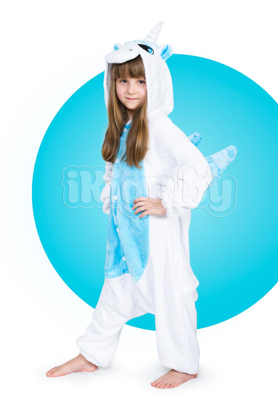 """Детские пижамы кигуруми """"Единорог Голубой"""" детки_единорог-голубой-4_IGP8142.jpg"""