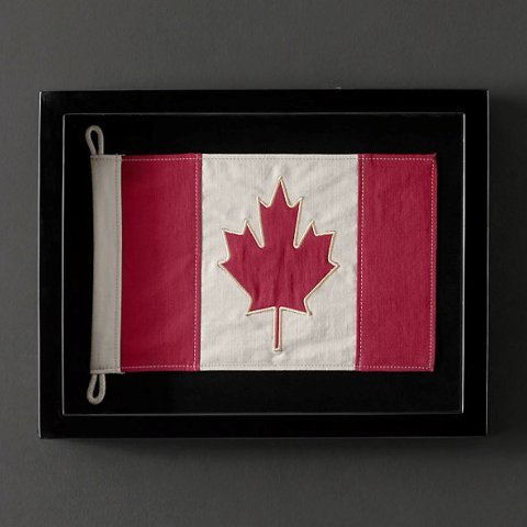 Декор Панно Restoration Hardware Флаг Canada flag-restoration-hardware-canada-ssha.jpeg