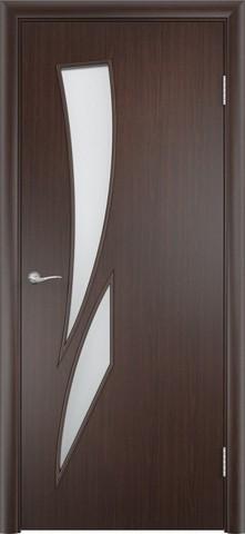 Дверь Сибирь Профиль Стрелиция (С-2), цвет венге, остекленная