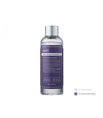 Увлажняющий смягчающий тонер (без запаха), 180 мл / Dear, Klairs Supple Preparation Uncented Toner