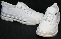 Легкие летние туфли кроссовки на каждый день El Passo sy9002-2 Sport White.