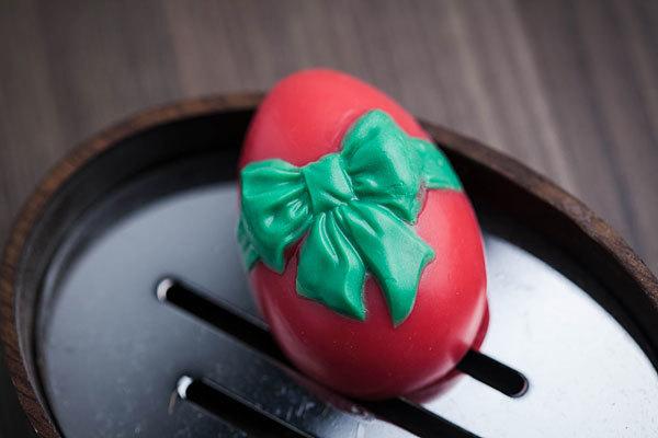 Мыло Яйцо с бантом. Пластиковая форма