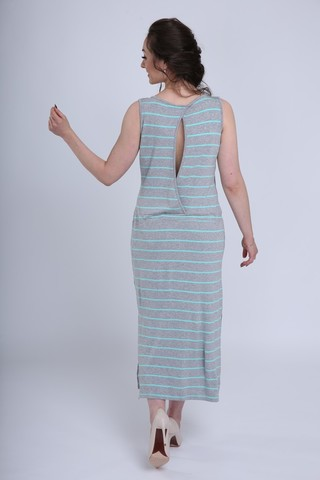 Платье 08731 серый меланж/ментол