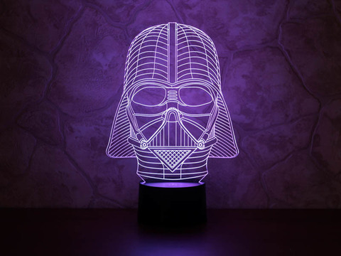 3D светильник Дарт Вейдер