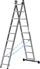 Лестница СИБИН универсальная, двухсекционная, 9 ступеней