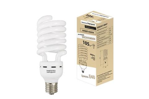 Лампа люминесцентная НЛ-HS-105 Вт-4000 К–Е40