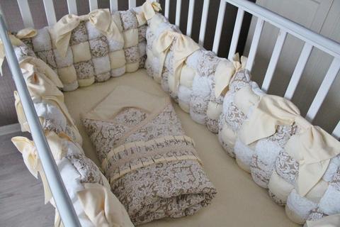 Бортики в кроватку Bombon, на 4 стороны кроватки