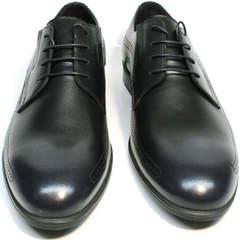 Классические мужские туфли из натуральной кожи Ikos 3416-4 Dark Blue.