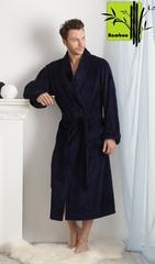 NATUREL арт.908 темно-синий  бамбуковый  мужской халат  PECHE MONNAIE  Россия