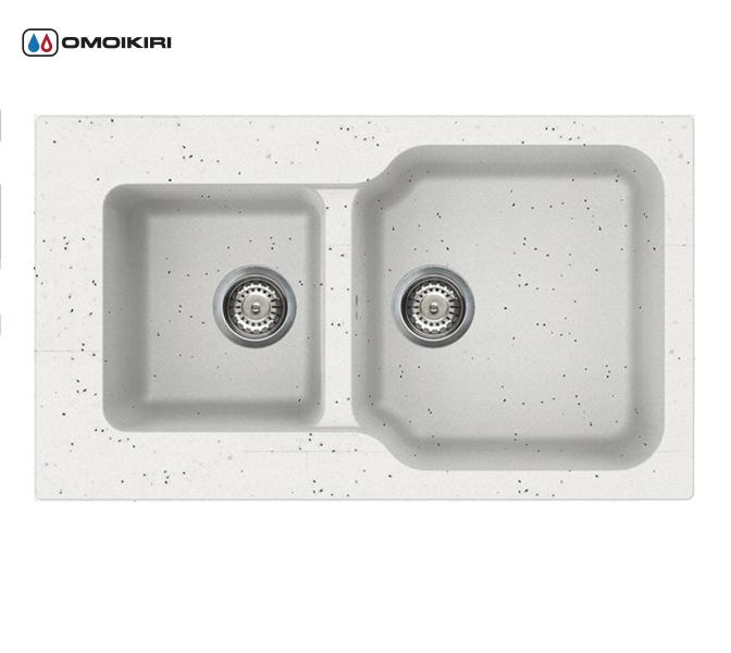 Кухонная мойка из искусственного гранита (Tetogranit) OMOIKIRI Maru 86-2-EV (4993290)Кухонные мойки из искусственного гранита<br>Кухонная мойка из искусственного гранита (Tetogranit) OMOIKIRI Maru 86-2-EV (4993290)<br><br><br><br><br><br>Преимущества моек из Tetogranit<br><br><br><br><br><br><br><br><br>Устойчива к царапинам<br>Устойчива к ударам<br>Не впитывает запахи<br>Не окрашивается от продуктов<br><br><br><br><br>TETOGRANIT на 80% состоят из гранитной крошки и на 20% из акриловой смолы. Кухонные мойки из композитного материала TETOGRANIT, обладают специфическими свойствами и особыми характеристиками. Ему свойственна высокая надежность, однородная структура, а также устойчивость к воздействию различных химических веществ.В состав акриловой смолы входят ионы серебра, которые препятствуют размножению бактерий на поверхности мойки.<br>TETOGRANIT имеет превосходную сопротивляемость к ударам и царапинам.Мойка прослужит долгие годы, сохранив первоначальный вид.<br>Компания OMOIKIRI обладает уникальной инновационной системой производства: T.P.S. (TETOGRANIT Production System).Новая технология была запатентована компанией OMOIKIRI в 2014 году. Данную технологию можно смело считать самой прогрессивной среди производителей продукции из утверждающихся композиционных материалов в кухонном сегменте.<br>Комплектация:<br><br>крепления;<br>донный клапан (автоматический донный клапан приобретается отдельно);<br>сифон.<br><br><br><br><br><br>Руководство по монтажу<br><br><br><br>Официальный сертифицированный продавец OMOIKIRI™<br>