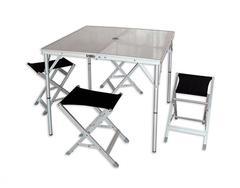 Комплект стол + 4 стула Maverick HQ-046F