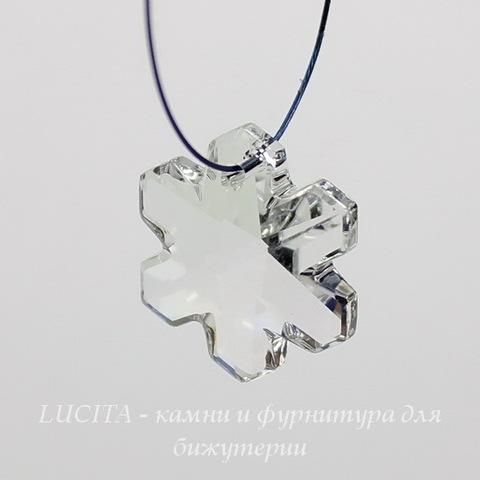 6704 Подвеска Сваровски Снежинка Crystal (20 мм)