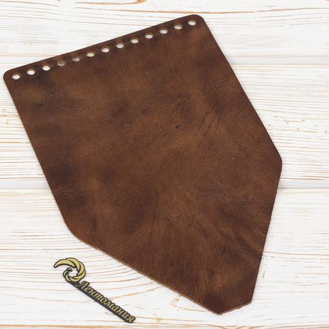 Клапан для рюкзачка кожаный