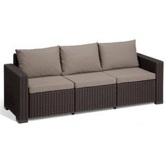 Трехместный диван под ротанг Allibert California 3