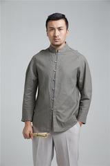 Китайская традиционная мужская рубашка  с длинным рукавом
