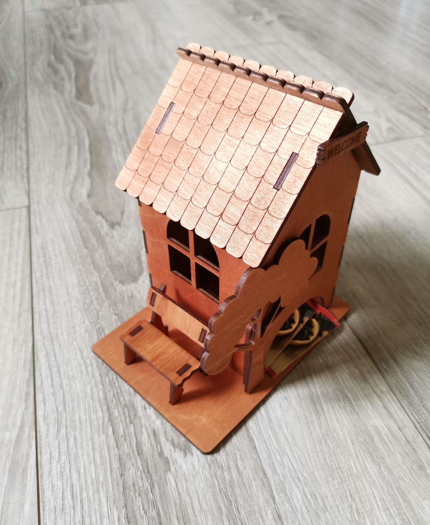 чайный домик с лавочкой