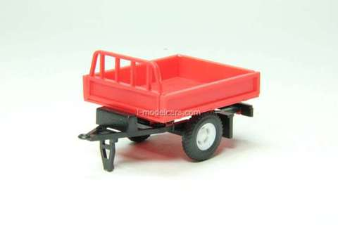 Trailer Bison (without awning) red Agat Mossar Tantal 1:43