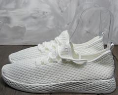 Кроссовки с сеточкой женские Small Swan NB283-2 All White.