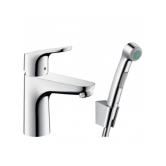 Смеситель для раковины с гигиеническим душем Hansgrohe Focus 31927000 фото