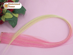 Канекалон омбре розово-кремовый
