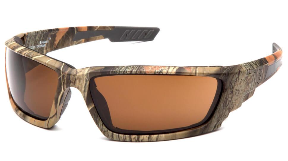 Очки баллистические стрелковые Pyramex Brevard VGSCM1018DTB Anti-fog коричневые 23%