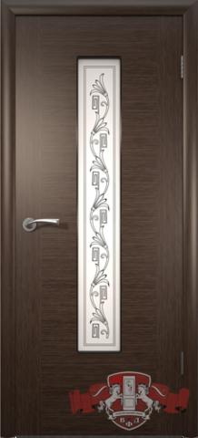 Дверь 8ДО4 (венге, остекленная шпонированная), фабрика Владимирская фабрика дверей