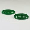 Кабошон овальный Жадеит зеленый (тониров), 40х30 мм