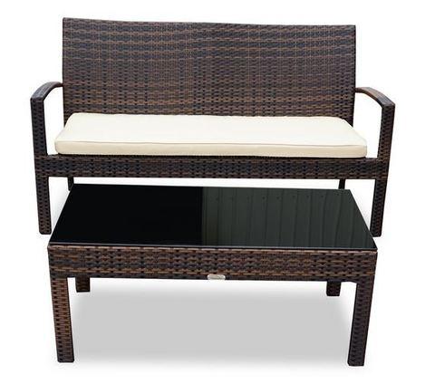 Столик кофейный плетеный Милан, темно-коричневый